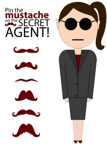 Pin the Mustache on the Spy