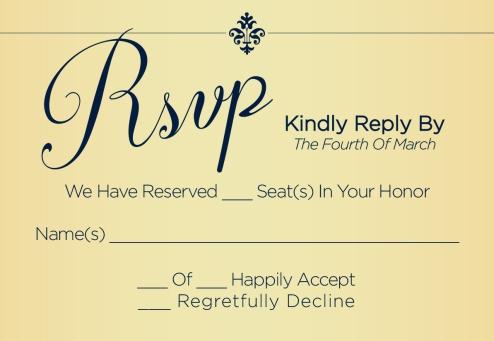 RSVPcard